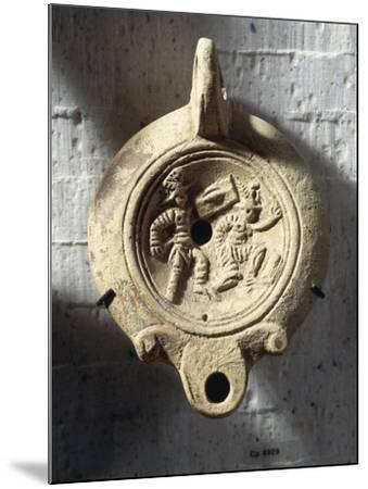 Lamp, Relief with Ending of Gladiatorial Combat: Loser Raising His Left Hand as Request for Mercy--Mounted Giclee Print