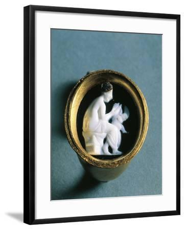 Italy, Basilicata, Heraclea, Ring with a Cameo Depicting Aphrodite and Cupid--Framed Giclee Print