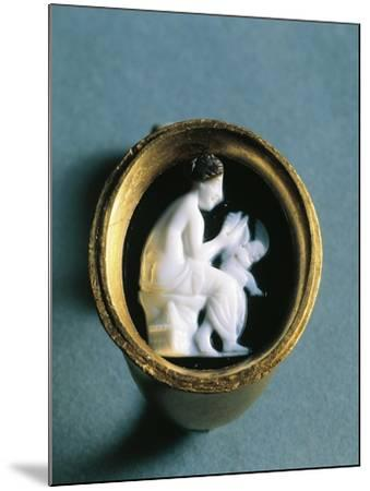 Italy, Basilicata, Heraclea, Ring with a Cameo Depicting Aphrodite and Cupid--Mounted Giclee Print