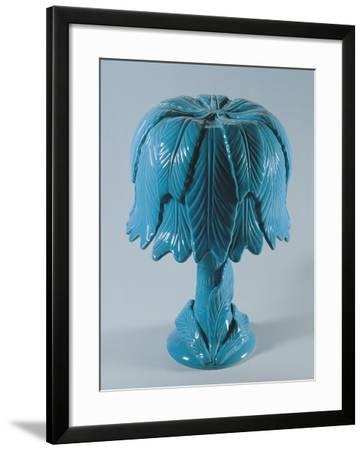Table Lamp with Foliate Pattern--Framed Giclee Print