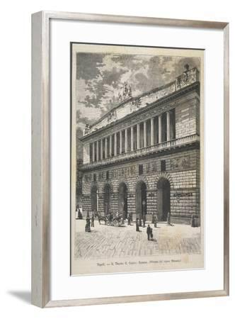 Naples, San Carlo Theatre--Framed Giclee Print