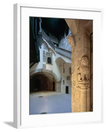 Courtyard and Staircase, Magistrate Palace Palazzo Pretorio--Framed Giclee Print