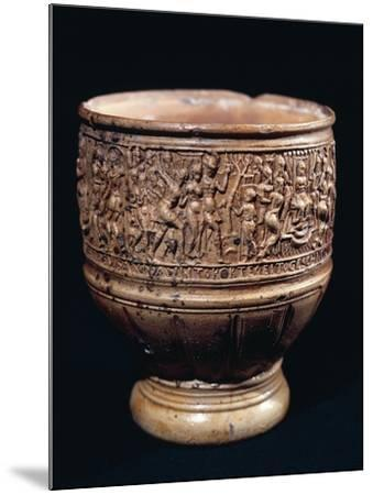 Cup with Bas-Relief Decorations--Mounted Giclee Print