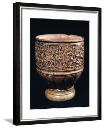 Cup with Bas-Relief Decorations--Framed Giclee Print