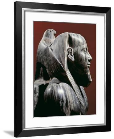 Diorite Statue of Pharaoh Khafre, from Giza, Detail--Framed Giclee Print