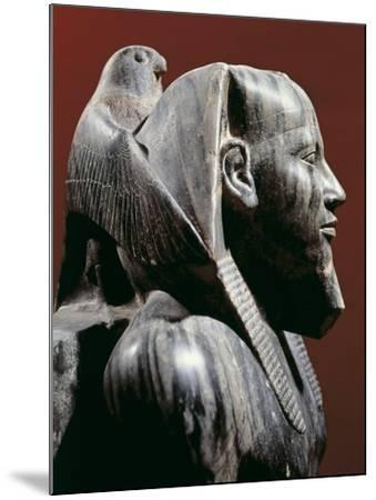 Diorite Statue of Pharaoh Khafre, from Giza, Detail--Mounted Giclee Print