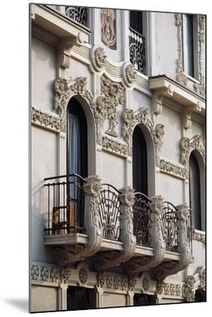 Art Nouveau Balcony of House in Piffetti 10 Bis Street, Turin, Piedmont, Italy--Mounted Giclee Print
