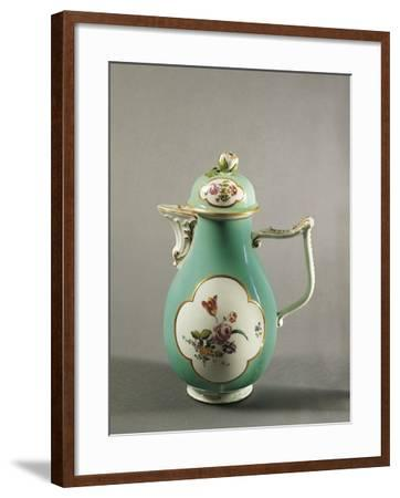 Aquamarine Coffee Pot with Floral Decoration and Gilt Freizes, 1750--Framed Giclee Print