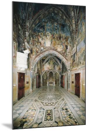 Interior of Church in Sacro Speco Monastery, Subiaco, Italy, 12th Century--Mounted Giclee Print