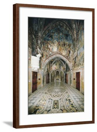 Interior of Church in Sacro Speco Monastery, Subiaco, Italy, 12th Century--Framed Giclee Print