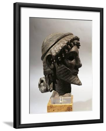 Bronze Head of Zeus, from Olympia, Greece--Framed Giclee Print