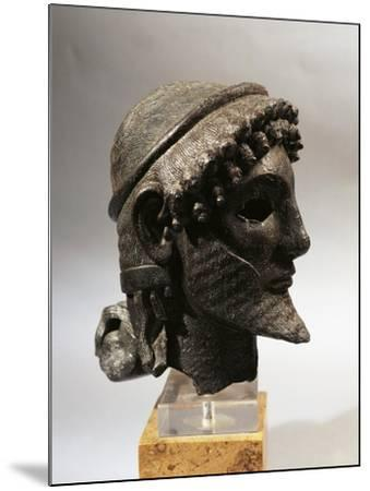 Bronze Head of Zeus, from Olympia, Greece--Mounted Giclee Print