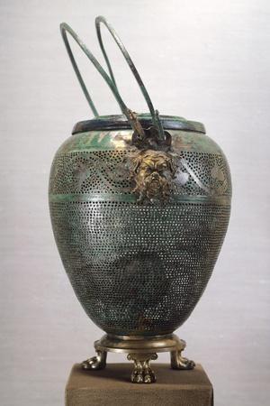 Bronze Lantern, from Royal Tomb of Philip II, Vergina, Greece, Goldsmith Art--Framed Giclee Print