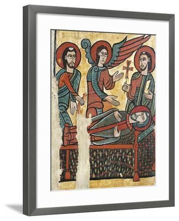 Death of Martin of Tours, Altarpiece of St Martin De Puigbo--Framed Giclee Print