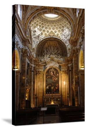 Italy, Rome, Church of St Louis of the French, Interior--Stretched Canvas Print