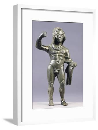 Bronze Statue Depicting Hercules--Framed Giclee Print