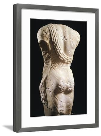 Kouros, Statue from Syracuse, Italy, Back, Magna Graecia, 6th-5th Century BC--Framed Giclee Print