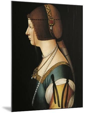 Portrait of Bianca Maria Sforza, Painting by Giovanni Ambrogio De Predis, 1493--Mounted Giclee Print