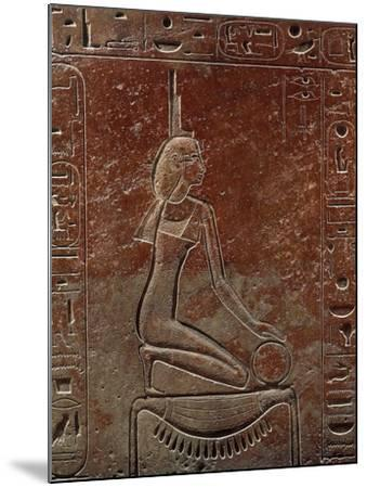 Sarcophagus of Queen Hatshepsut from the Valley of the Kings, Egypt--Mounted Giclee Print