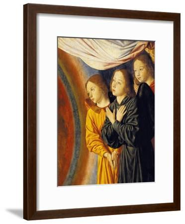 Angels, Detail from Right Side of Central Panel with Madonna Enthroned with Angels--Framed Giclee Print