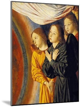 Angels, Detail from Right Side of Central Panel with Madonna Enthroned with Angels--Mounted Giclee Print