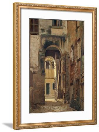 The Jewish Ghetto in Rovigo, by Giovanni Biasin--Framed Giclee Print