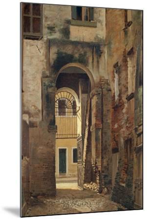 The Jewish Ghetto in Rovigo, by Giovanni Biasin--Mounted Giclee Print