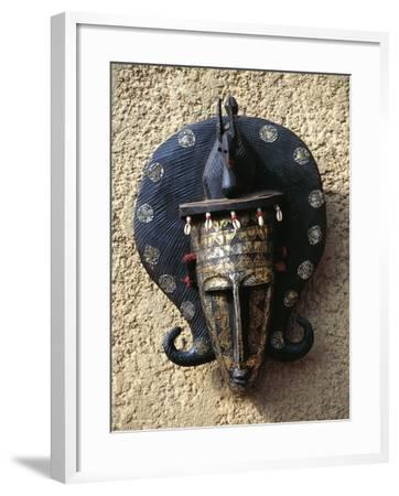 Mask, Bambara Art, Mali--Framed Giclee Print