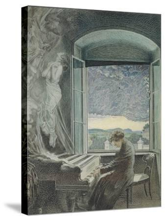 Austria, Vienna, Pastel Portrait of Ludwig Van Beethoven--Stretched Canvas Print