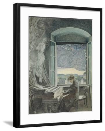 Austria, Vienna, Pastel Portrait of Ludwig Van Beethoven--Framed Giclee Print