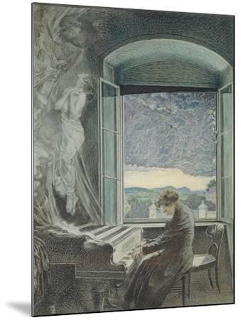 Austria, Vienna, Pastel Portrait of Ludwig Van Beethoven--Mounted Giclee Print