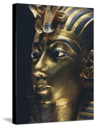 Burial Mask of Pharaoh Nebkheperura Tutankhamen, from Treasure of Tutankhamen--Stretched Canvas Print