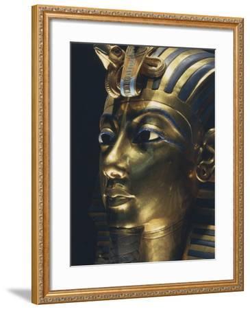 Burial Mask of Pharaoh Nebkheperura Tutankhamen, from Treasure of Tutankhamen--Framed Giclee Print