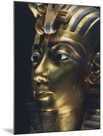 Burial Mask of Pharaoh Nebkheperura Tutankhamen, from Treasure of Tutankhamen--Mounted Giclee Print