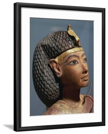 Egypt, Luxor, Ancient Egypt Museum, Gilded Wood Ushabti Figure, Close-Up--Framed Giclee Print