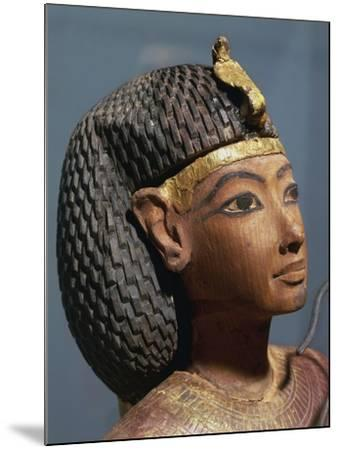 Egypt, Luxor, Ancient Egypt Museum, Gilded Wood Ushabti Figure, Close-Up--Mounted Giclee Print