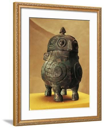 Japan, Shanxi, Shi Lou, Wine Vessel in the Shape of Two Stylized Owls, Found in 1957--Framed Giclee Print