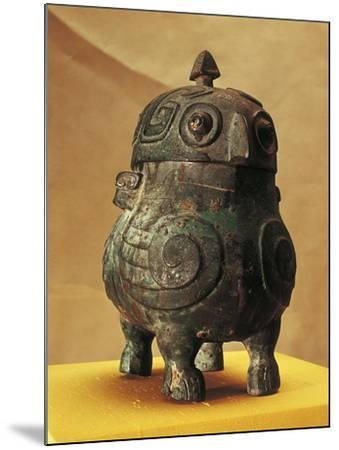 Japan, Shanxi, Shi Lou, Wine Vessel in the Shape of Two Stylized Owls, Found in 1957--Mounted Giclee Print