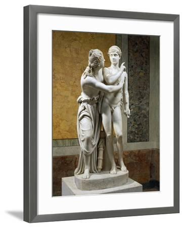Marble Sculpture Group Portraying Cupid and Psyche--Framed Giclee Print