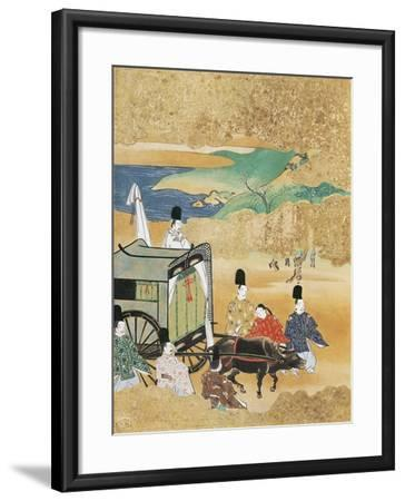 Bride Arriving in Carriage to Betrothed's House--Framed Giclee Print