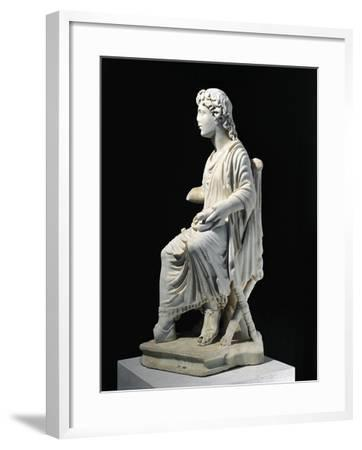 Marble Statue of Young Christ Seated on Stool, from Civita Lavinia, Rome--Framed Giclee Print