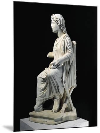 Marble Statue of Young Christ Seated on Stool, from Civita Lavinia, Rome--Mounted Giclee Print