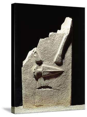 Statue Menhir with Male Features and Carved Dagger, Group C known as Filetto I--Stretched Canvas Print