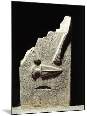 Statue Menhir with Male Features and Carved Dagger, Group C known as Filetto I--Mounted Giclee Print