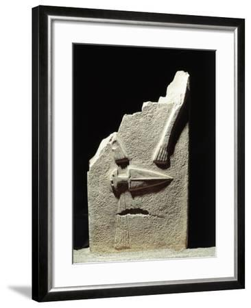 Statue Menhir with Male Features and Carved Dagger, Group C known as Filetto I--Framed Giclee Print