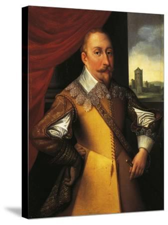 Portrait of Gustav Ii Adolf, King of Sweden--Stretched Canvas Print