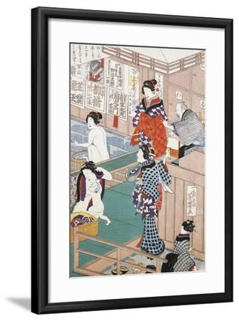 Women at Public Baths, 1868--Framed Giclee Print