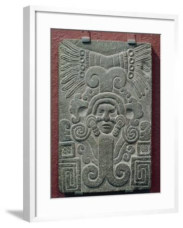 Relief on Stone Depicting Birth of Quetzalcoatl, Mexico--Framed Giclee Print