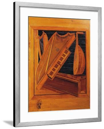 Wooden Inlays Depicting Musical Instruments, Isabella D'Este's Music Room, Ducal Palace, Italy--Framed Giclee Print