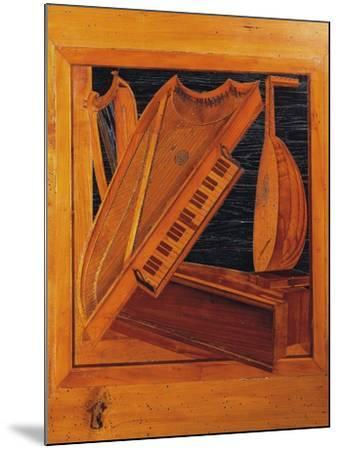 Wooden Inlays Depicting Musical Instruments, Isabella D'Este's Music Room, Ducal Palace, Italy--Mounted Giclee Print